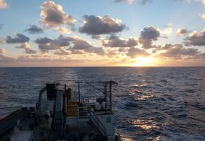Sunrise over the south Atlantic