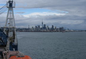 Leaving the Auckland Port