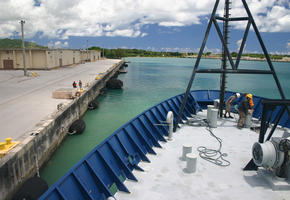 Leaving the Dock in Guam