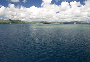 View of Port in Guam