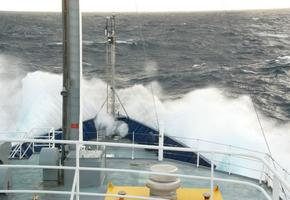 Waves Over the Bow