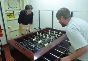 Foosball Tournament on the Boat