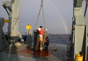 Rainbow while Dredging