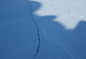Sea ice cracks