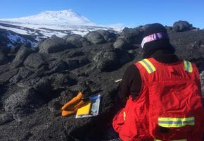 Field geology on Mt. Erebus