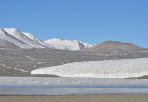 Lake Fryxell with Canada Glacier