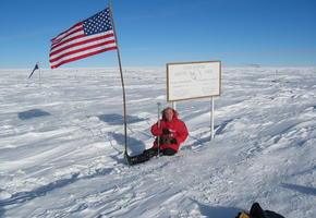The Geographic South Pole in 2003