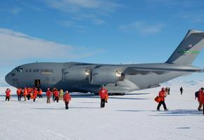 Airforce C-17 Just Landed at McMurdo