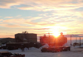 The last sunset at McMurdo signals the beginning of the Austral Summer